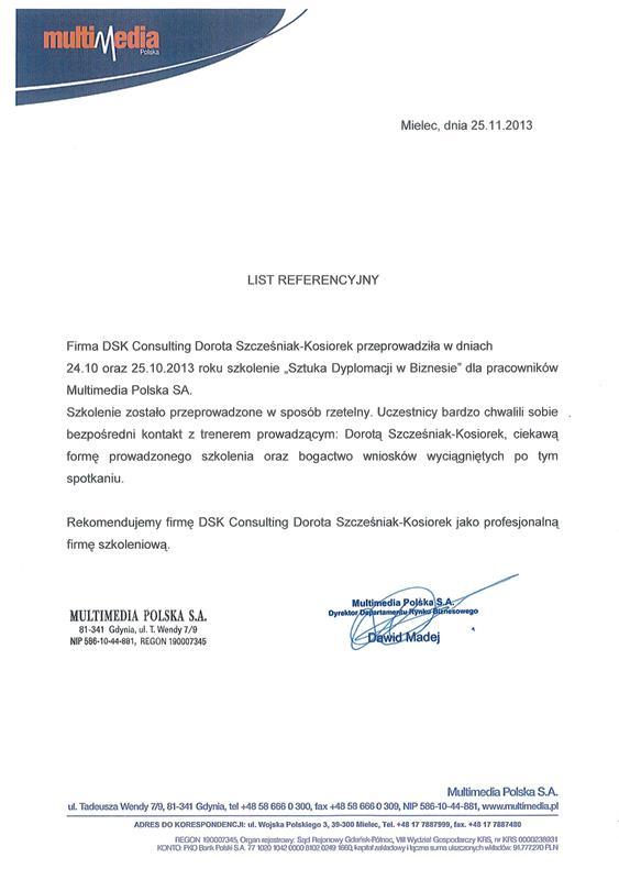 Sztuka Dyplomacji w biznesie - DSK Experts