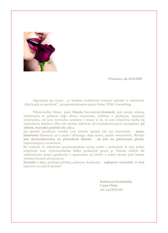Dorota Szcześniak-Kosiorek warsztaty stylu analiza kolorystyczna