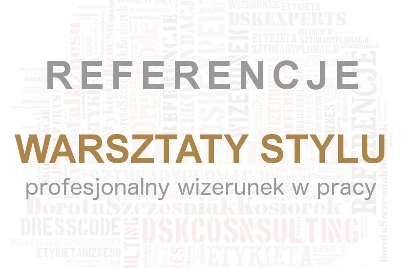 Referencje Warsztaty stylu Dorota_Szczesniak-Kosiorek